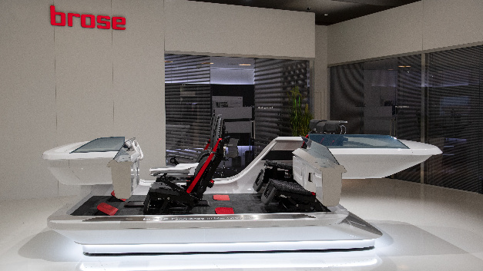 Auf der IAA 2019 zeigte Brose ein innovatives Innenraumkonzept für die neuen Mobilitätstrends wie Car-Sharing.