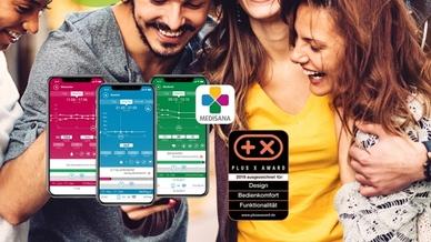 """Design, Bedienkomfort und Funktionalität: Die """"VitaDock+""""-App von Medisana konnte bereits über eine Million Nutzer überzeugen."""