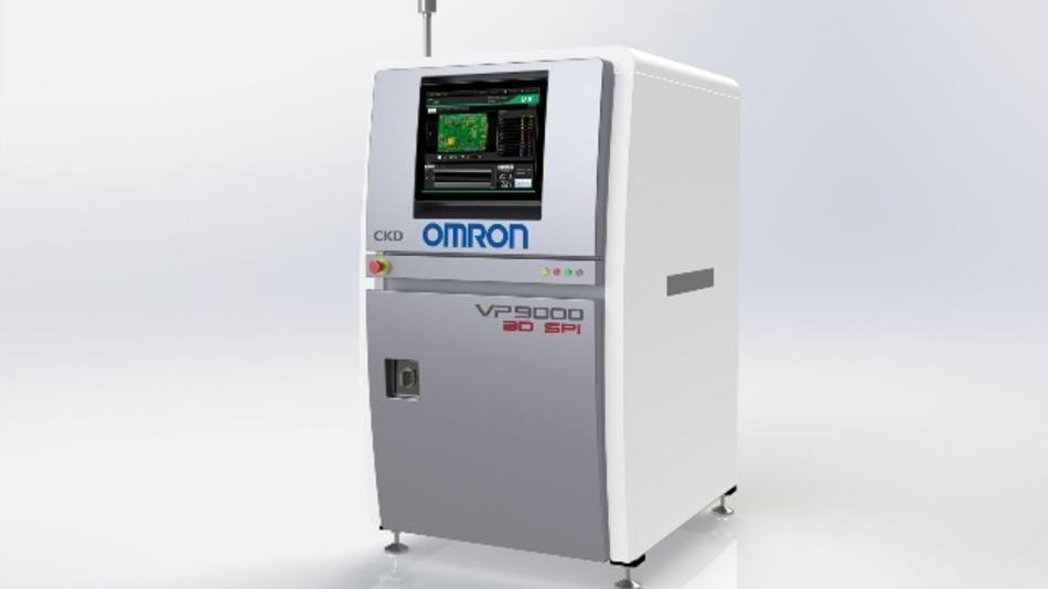 Mit integriertem Touchscreen: das neue 3D-SPI-Systems VP9000 von Omron.