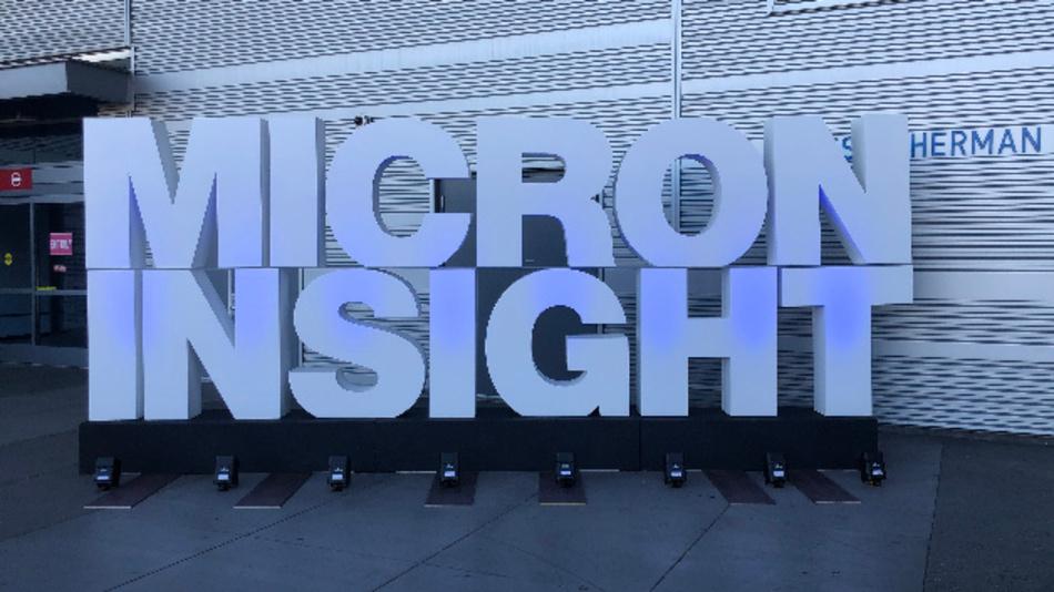 "Microns Technologiekonferenz ""Insight"" findet 2019 am Pier 39 in San Francisco statt."