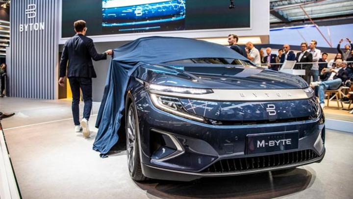 Byton ernte auf der IAA 2019 viel Zuspruch für sein Elektro-SUVM-Byte. Dieses geht nun in die Produktion der Vorserie.
