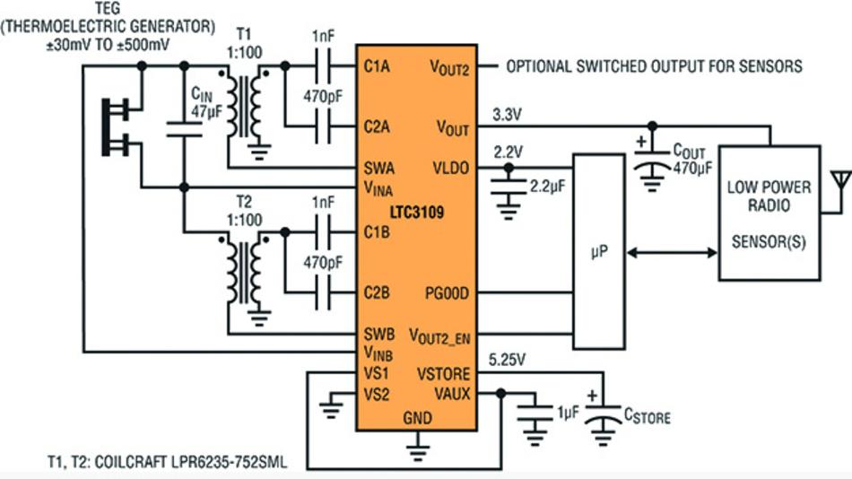 Bild 2. Typische Anwendung des LTC3109.
