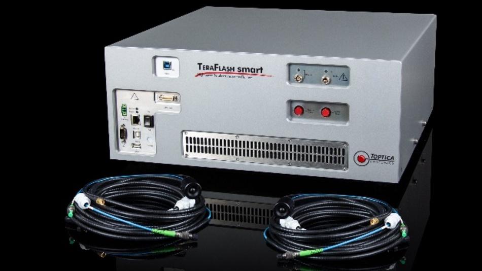 Innerhalb einer Messzeit von nur 625 µs erreicht der TeraFlash smart von Toptica eine spektrale Bandbreite von 3 THz.