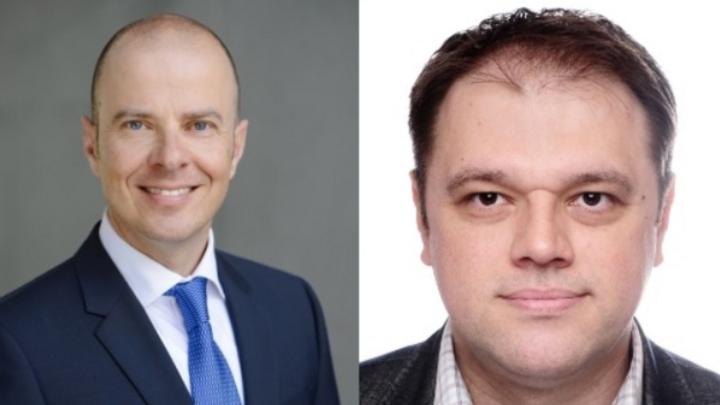 Marius Stoica (re.) ist neuer Geschäftsführer bei Grundig Intermedia sowie Beko Deutschland und berichtet direkt an Mario Vogel (li.), den Vorsitzenden der Geschäftsführung beider Unternehmen.