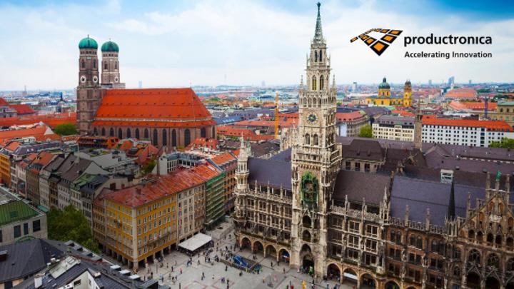 Fraunkirche, Marienplatz, Productronica. Viele Hersteller der Elektronikbranche sind in München angesiedelt und betrachten die Messe als Heimspiel - zum Beispiel Rohde & Schwarz.