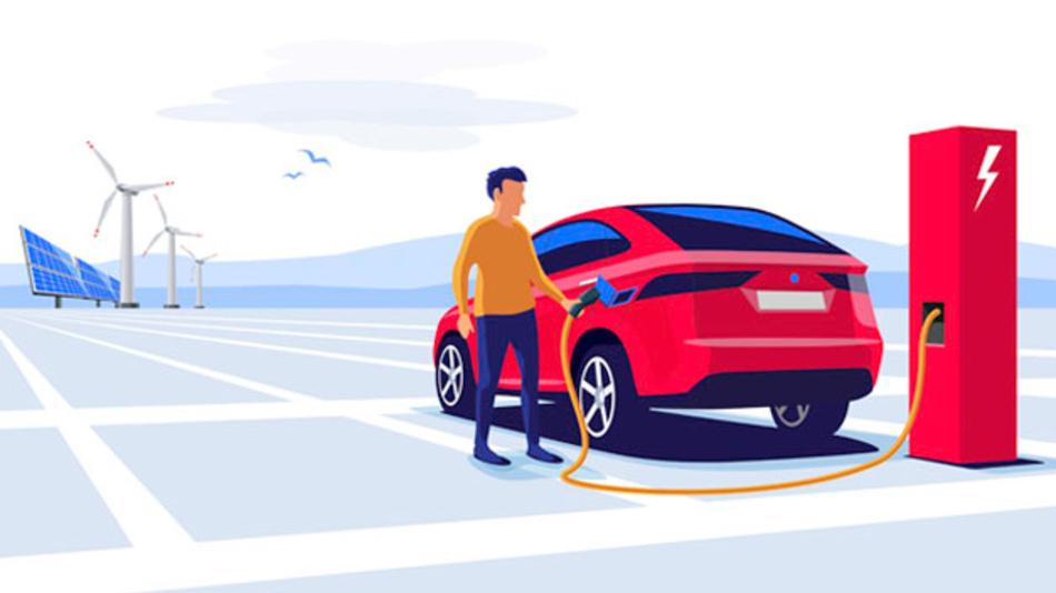 Elektroautos sind aus Klimasicht nur sinnvoll, wenn sie mit erneuerbar erzeugtem Strom betreiben werden.