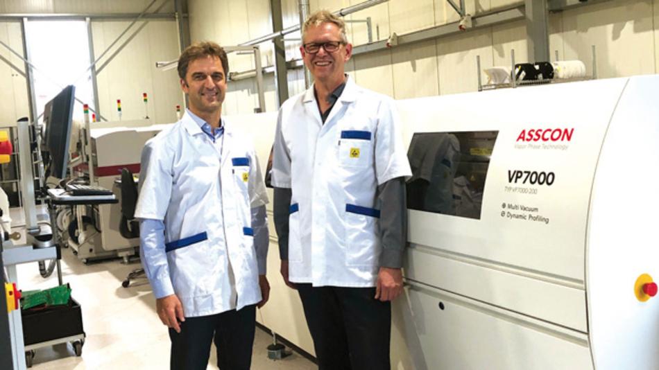 Die Geschäftsführer Bruno Geiger und Gottfried Fischer setzen auf Dampfphase.