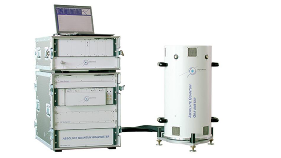 Bild 3. Transportabel und einfach zu bedienen: Quanten-Gravimeter »AQG« zur hochgenauen Messung der Schwerkraft.
