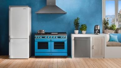 """Die """"Portofino""""-Geräte von Smeg sind auf ambitionierte Köche zugeschnitten, die großen Wert auf eine authentische Ästhetik legen."""