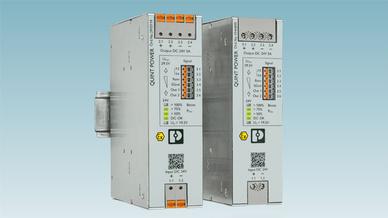 Die neuen DC/DC-Wandler der Produktfamilie Quint von Phoenix sind sehr leistungsfähige Stromversorgungen.