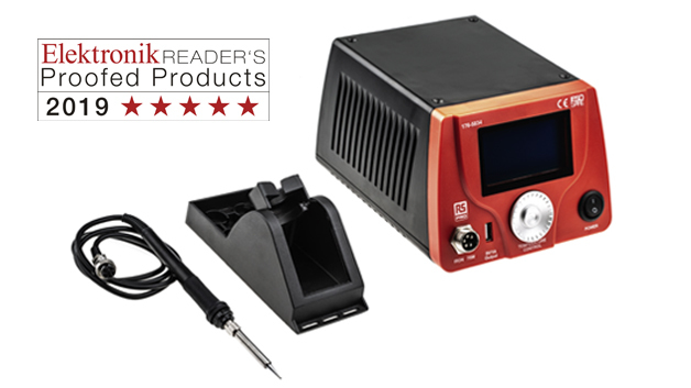 Elektronisch geregelte Lötstation RS Pro LCD Smart Soldering Station von RS Components.