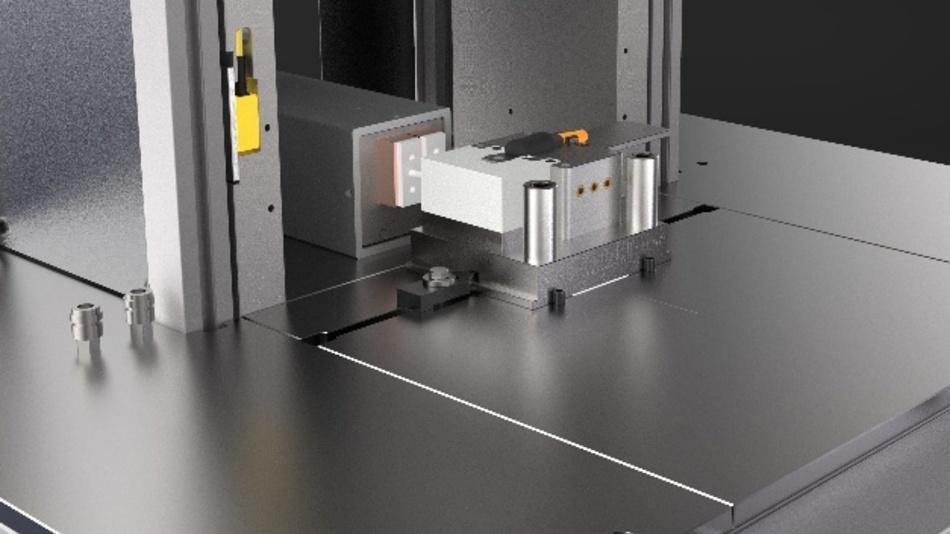 Spezielles modulares Verguss-Werkzeug für den Low-Pressure-Moulding-Prozess mit integrierter Induktion.