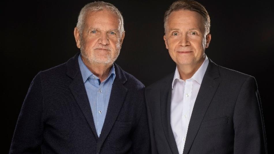 Peter Schall (rechts) übernimmt die Nachfolge als Vertriebsleiter von Werner Fröhlich (links)