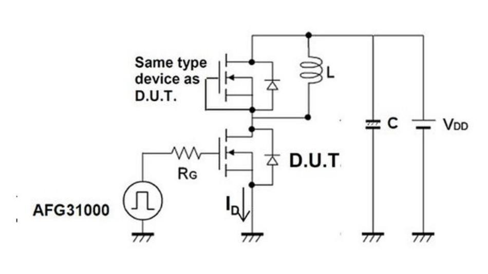 Abbildung 4: Der Doppelpuls erfolgt mit einer induktiven Last und einer Spannungsversorgung.