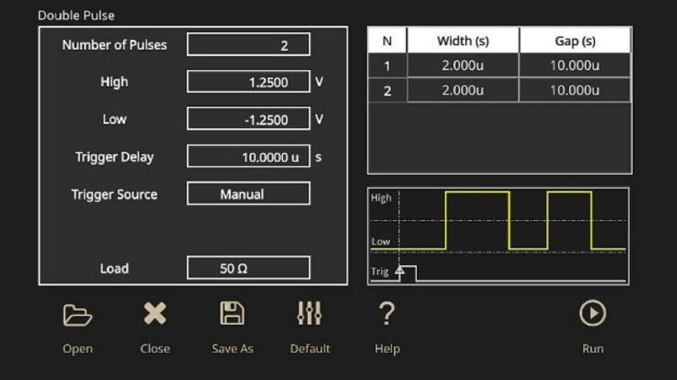 Abbildung 9: Die Doppelpulstestsoftware erhöht die Effizienz und Zuverlässigkeit für eine Vielzahl an unterschiedlichen Testszenarien.