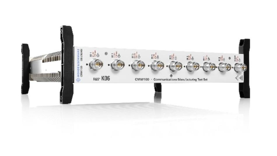 Mit der neuesten Version des R&S CMW100 Radio Communication Tester zeigt Rohde & Schwarz seinen bewährten Produktionstester für 5G FR1-Geräte.