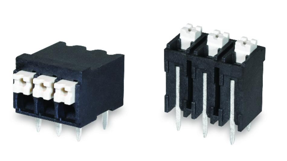 Die schraubenlosen Klemmleisten der TBLH-Familie eignen sich für den Temperaturbereich von –40 °C bis +130 °C.