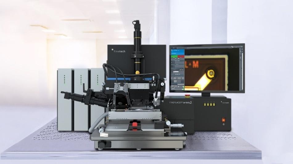 Der Fineplacer lambda 2 platziert und verbindet Bauelemente mit einer Genauigkeit besser als 0,5Mikrometer.