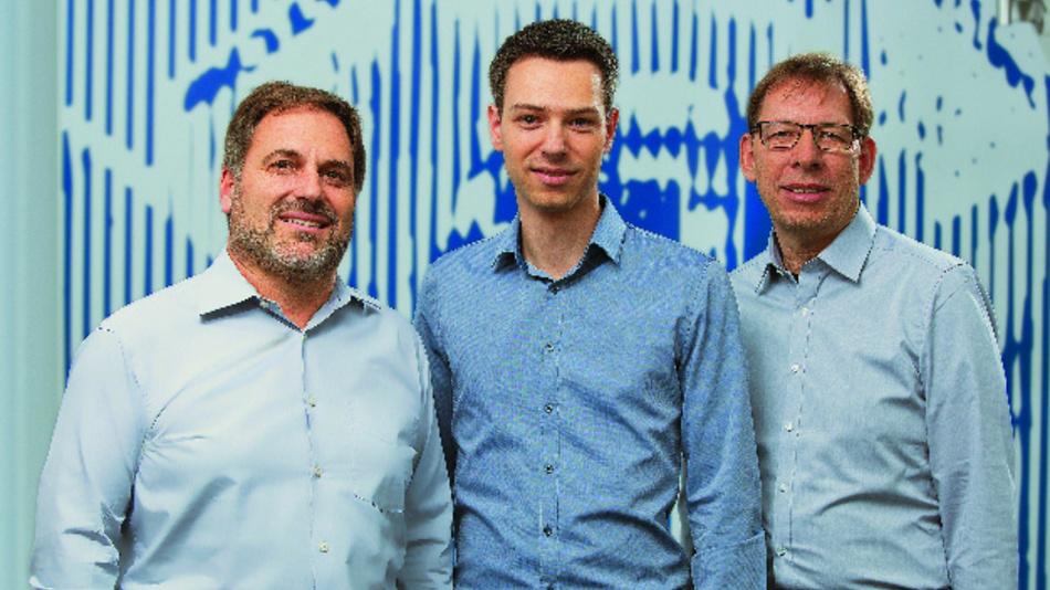 Die Unternehmensleitung von Matrix Vision ab 1. Januar 2020 (v.l.n.r.): Ralf Grasmann, Tobias Thullner und Uwe Hagmaier