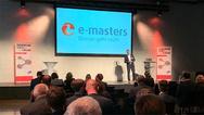 e-masters Geschäftsführer Jens Gorr beim »Future Campus« in Berlin.
