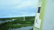 Der Sensor zu Eiserkennung wird auf dem Flügel der Windenergieanlage angebracht.