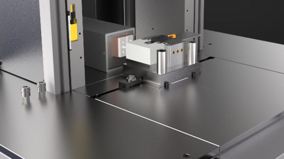 Modulares Verguss-Werkzeug für den Niederdruckverguss mit integriertem Induktor.
