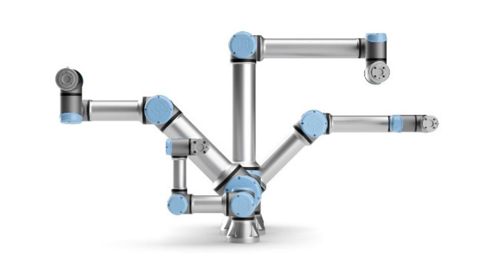 Die kollaborativen Roboter von Universal Robots lassen sich mit speziellen Werkzeugen und Greifern für die Elektronikfertigung ausstatten.