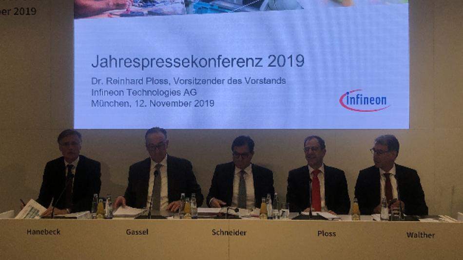 CEO Dr. Reinhard Ploss und seine Vorstandskollegen konnten erstmals einen Umsatz höher als 8 Mrd. Euro vermelden, allerdings bei deutlich geringerem Gewinn.