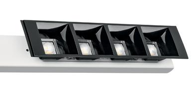 Sofort einsatzbereit sind die blendfreien 24 mm LLE-Module, die mit DAISY-Linsen und passendem SELV LED-Treiber eine perfekte Einheit bilden.