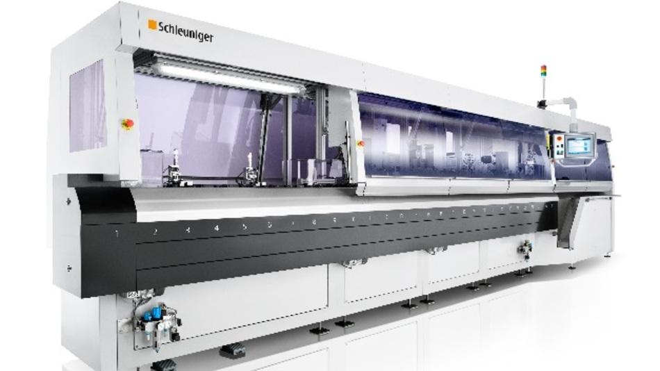 """""""TransferLine"""" von Schleuniger: Hochpräzises und flexibles Linearsystem für die automatische Verarbeitung von Kabeln, Leitungen sowie weichen, Schlauch-ähnlichen Materialien."""