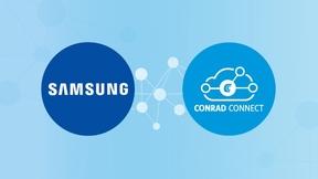 Durch die Partnerschaft zwischen Samsung und Conrad Connect lassen sich jetzt Samsung-IoT-Geräte mit den Marken und Geräten der Conrad Connect-Plattform verknüpfen und automatisieren.