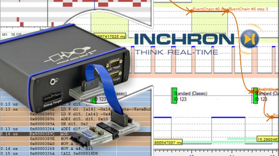 Die Analyse des Laufzeitverhaltens bei der Entwicklung ist mit dem Gerät von PLS und Inchron möglich.
