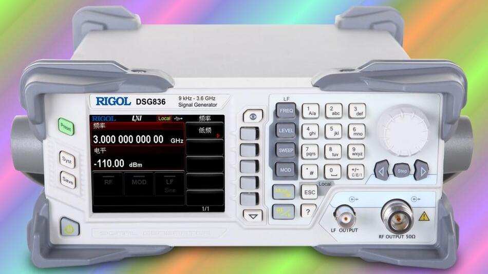 Klein und leicht: Daher sind die HF-Signalgeneratoren der DSG800-Serie gut für den mobilen Einsatz geeignet.