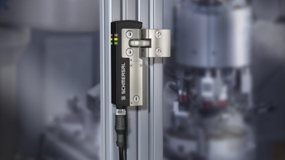 Die AZM40 ist laut Hersteller Schmersal die kleinste elektronische Sicherheitszuhaltung der Welt.