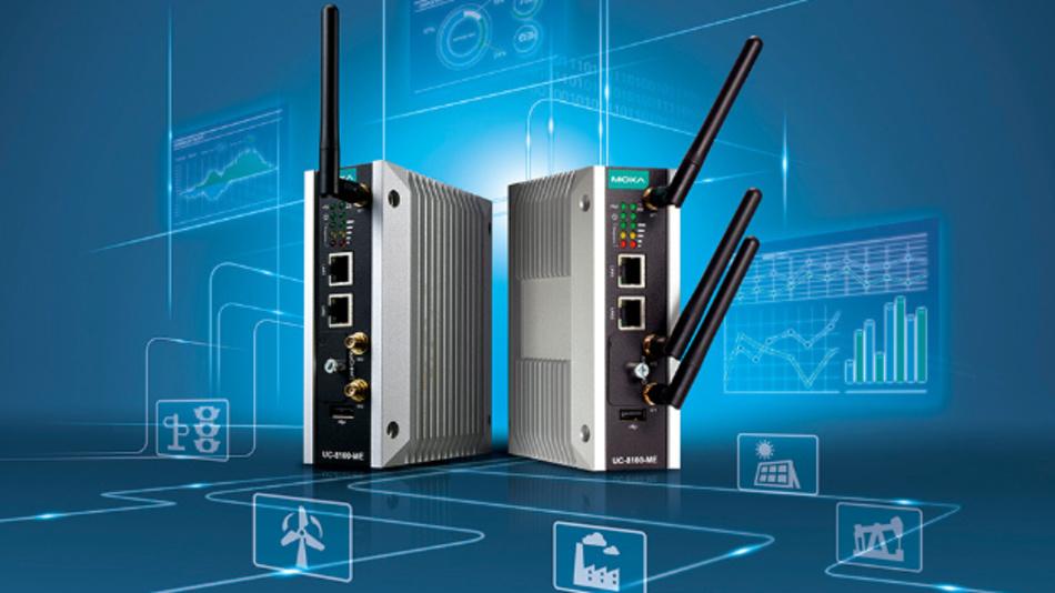 Die IIoT-Edge-Gateways der UC-Serie sind laut Hersteller Moxa die ersten Microsoft-Azure-IoT-Edge-zertifizierten Computer auf ARM-Basis.