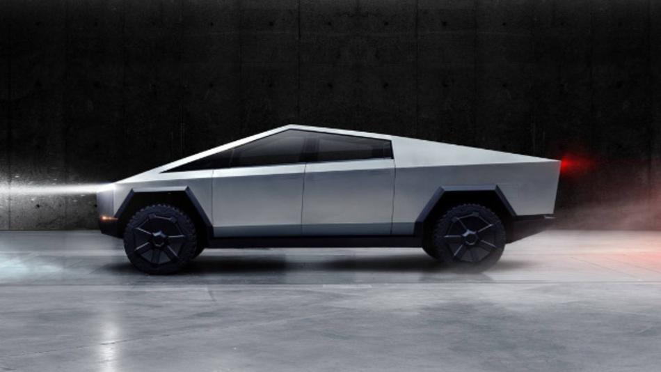 Der neue Elektro-Pickup vom Typ »Cybertruck« von Tesla. Bereits 150.000 Bestellungen sind in wenigen Tagen eingegangen – ganz ohne Werbung.