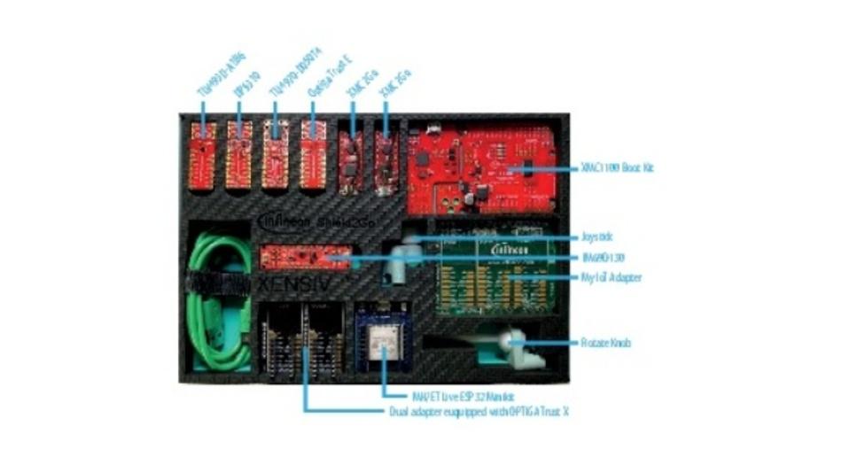 Bild 1: Die Xensiv Sensor Box von Infineon bietet eine reichhaltige Ausstattung.