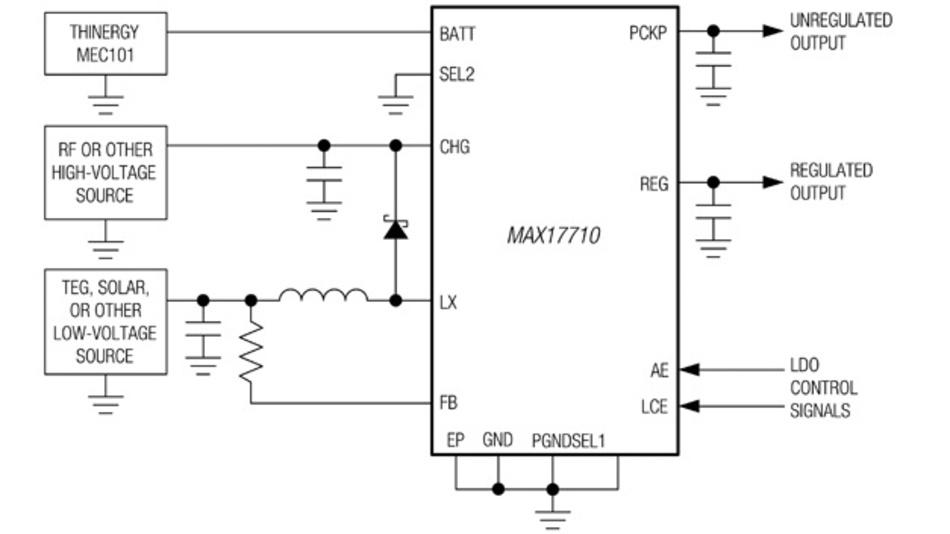 Bild 3: Vereinfachter Betriebsschaltkreis  des MAX17710