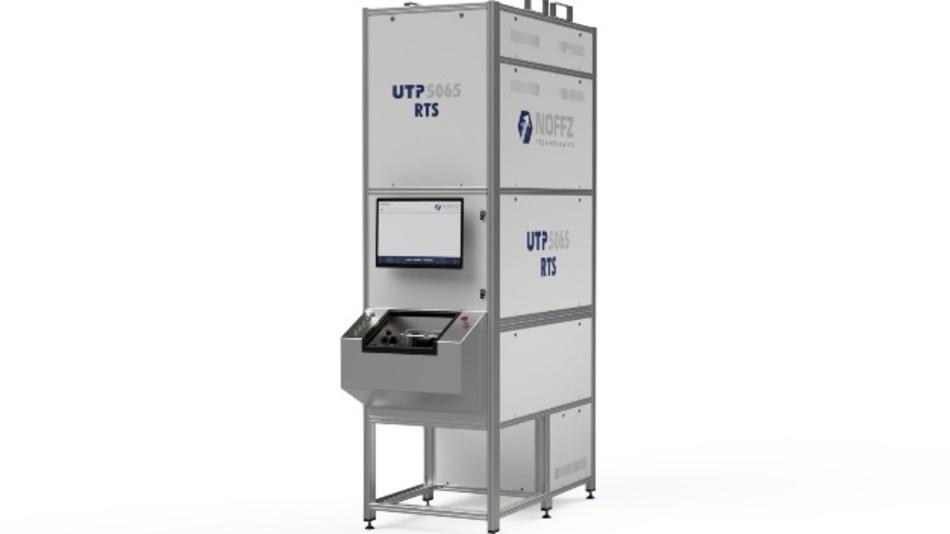 Mit vertikalem oder horizontalem Aufbau erhältlich: Das Radarsensor-Testsystem UTP 5065 von Noffz.