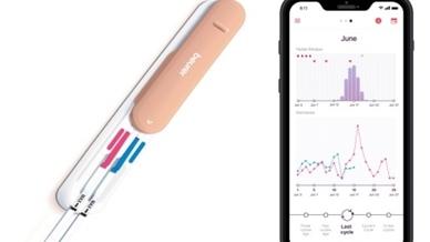 """Der Ovulationstest """"OT 80"""" liefert in Kombination mit der """"Pearl Fertility""""-App von Beurer Informationen zum Zyklus und eine genaue Angabe zum Fertilitätsfenster."""