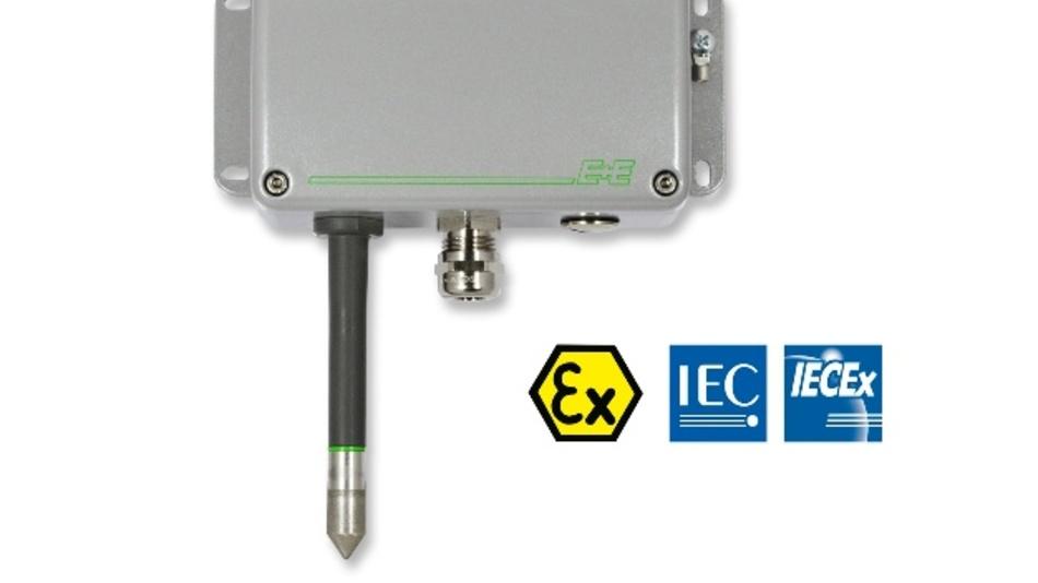 Der Messumformer misst die relative Feuchte und Temperatur im Arbeitsbereich von 0 bis 100 % rF bzw. -40 bis +60 °C.