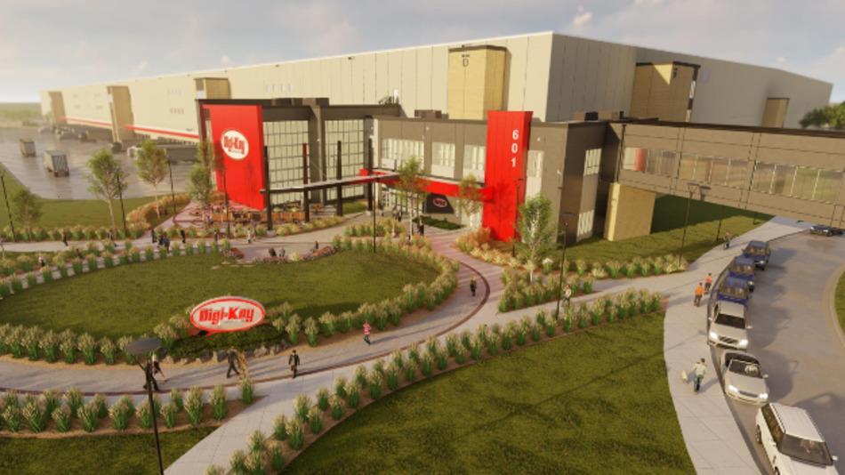 So soll das neue Firmengebäude von Digi-Key bei der Inbetriebnahme im Juli 2021 aussehen.