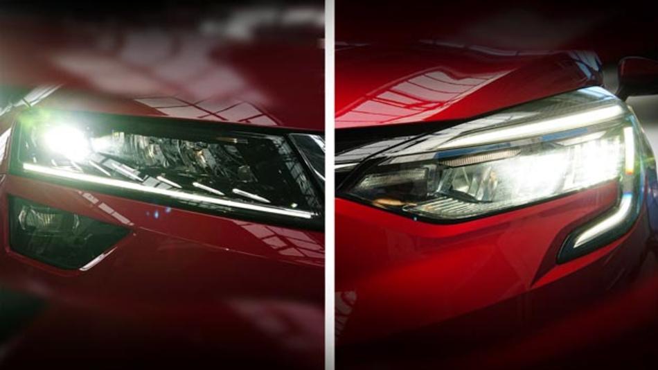 Der ADAC hat verschiedene LED-Scheinwerfer getestet, wie stark sie blenden. Links ein Scheinwerfer mit Linsenprojektionssystem. Der Rechte, mit Reflektortechnik blendet deutlich weniger.
