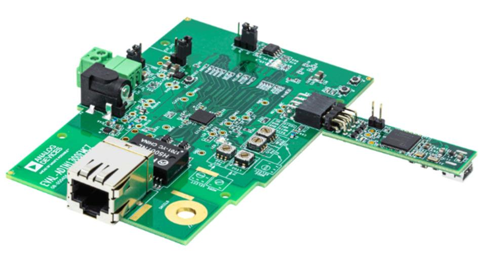 Evaluationsboard für die beiden Gigabit-Ethernet-Transceiver ADIN1300 und ADIN1200.