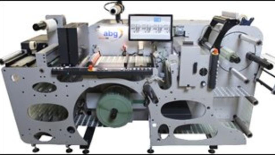 Etiketten-Verarbeitungssystem Omega SRI mit integriertem Inspektionssystem von AB Graphic International