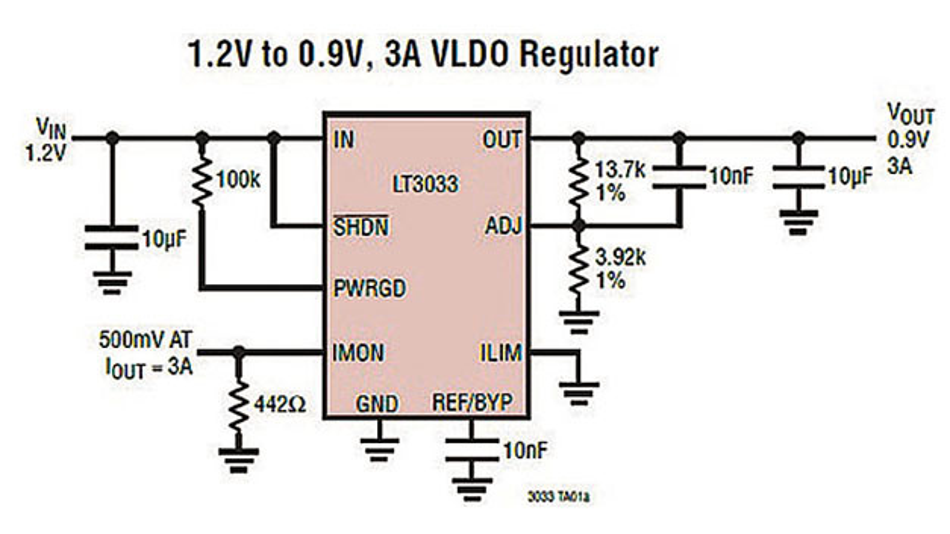 Bild 1: Typische Schaltung mit dem LT3033
