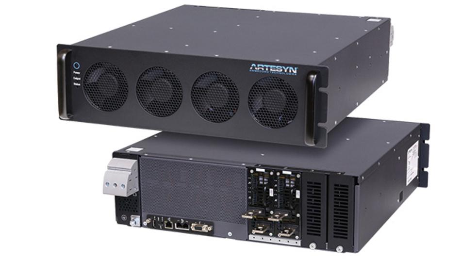 """Stromversorgungssysteme der iHP-Serie: Bei dem intelligenten Stromversorgungssystem der iHP-Serie von Artesyn handelt es sich um konfigurierbare Hochleistungsnetzteile mit medizinischer und industrieller Sicherheitszulassung. Das System besteht aus einem 19""""-Rack mit bis zu acht Modulen mit maximal 24 kW und bis zu acht unabhängigen Ausgangsspannungen. Das Power Rack enthält EMV-Filter und Digital PFC-, Eingangs- sowie Ausgangsanschlüsse und bietet eine niedrige Oberwellenverzerrung (THD). Die mehrphasige PFC-Architektur eliminiert die Restwelligkeit, verbessert die EMV und verlängert die Lebensdauer der Elektrolytkondensatoren. Das iHP-System kann für 1-phasige oder 3-phasige Eingangsspannungen konfiguriert werden, die Sekundärmodule sind ohne Spezialwerkzeug wechselbar. Mit dem iHP sind Spannungen bis 1000 VDC oder Ströme bis 1600 A möglich – bei Betrieb im Konstantstrom- oder Konstantspannungsmodus."""