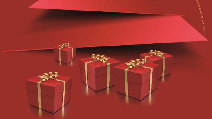 Geschenke unterm Weihanchtsbaum abstrakt