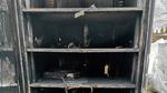 Sicherheitsschrank »StrainLock« zur Lagerung von undefinierten Lithium-Ionen-Akkus nach einem Brandversuch