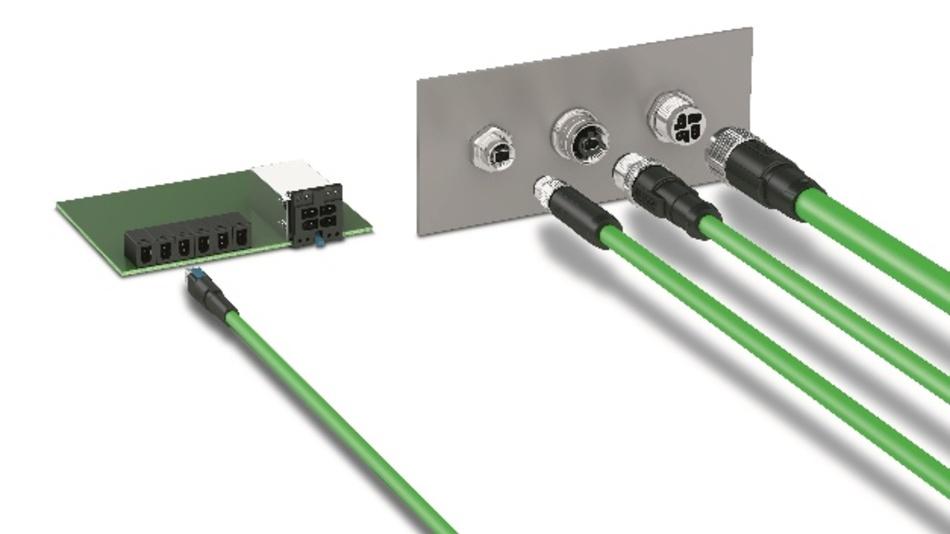 Bild 3. Effizient verkabelt: Einpaarige und vierpaarige MICE-Schnittstellen werden für IP20- und IP6x-Anwendungen konzipiert.